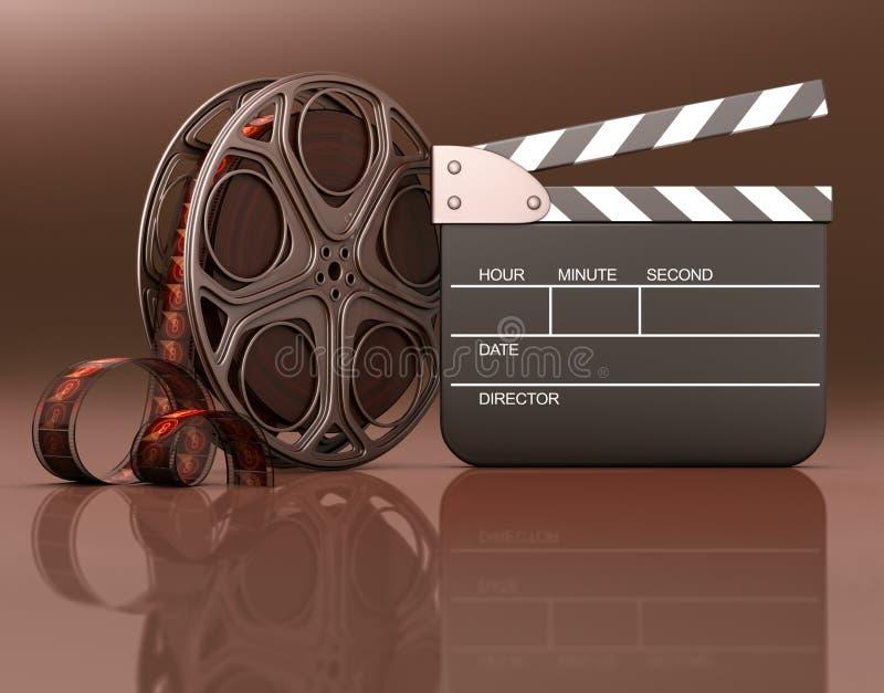 отличать кино иллюстрация вектора