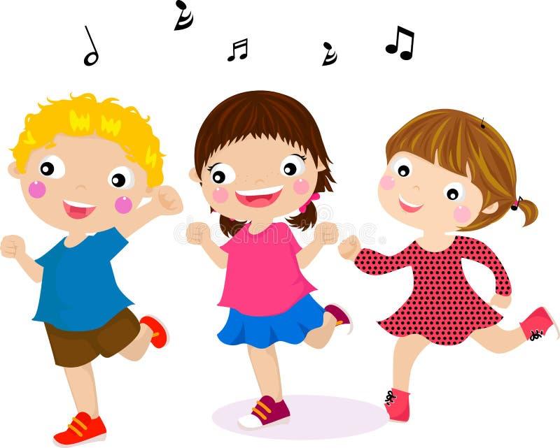 Отличать малышами танцы иллюстрация вектора