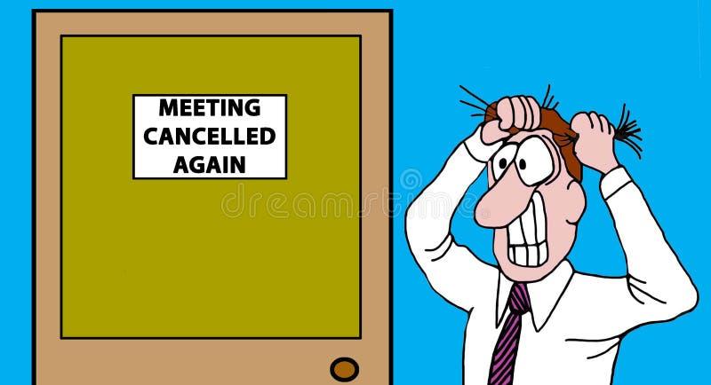 Отмененная встреча иллюстрация штока