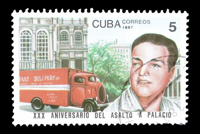 Печать почтового сбора напечатанная Кубой стоковые фотографии rf