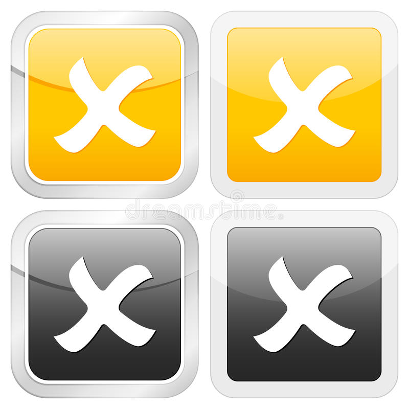 отмените квадрат иконы бесплатная иллюстрация