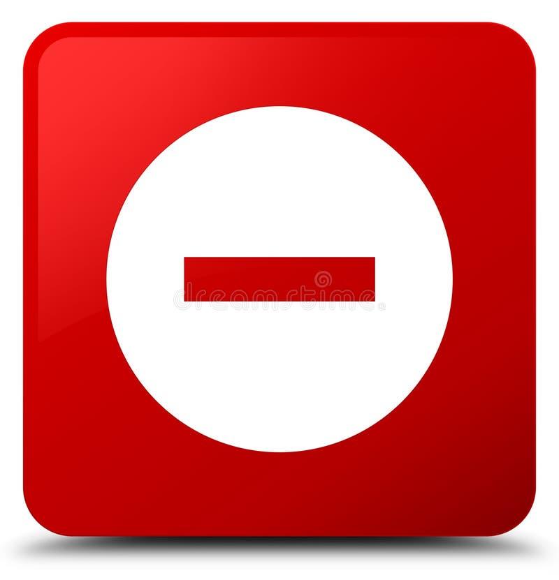 Отмените кнопку красной площади значка иллюстрация штока