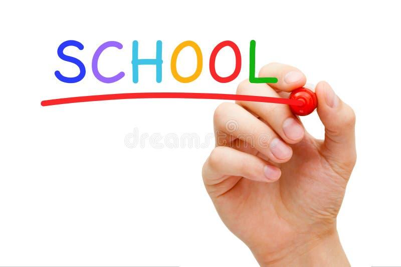 Отметка красного цвета школы стоковое изображение