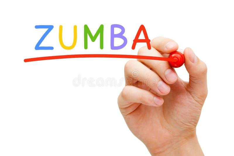 Отметка красного цвета Zumba стоковая фотография rf