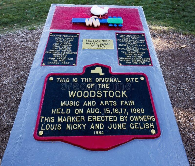 Отметка места фестиваля Woodstock стоковые изображения