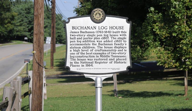 Отметка дома журнала Buchanan, Нашвилл TN стоковые изображения