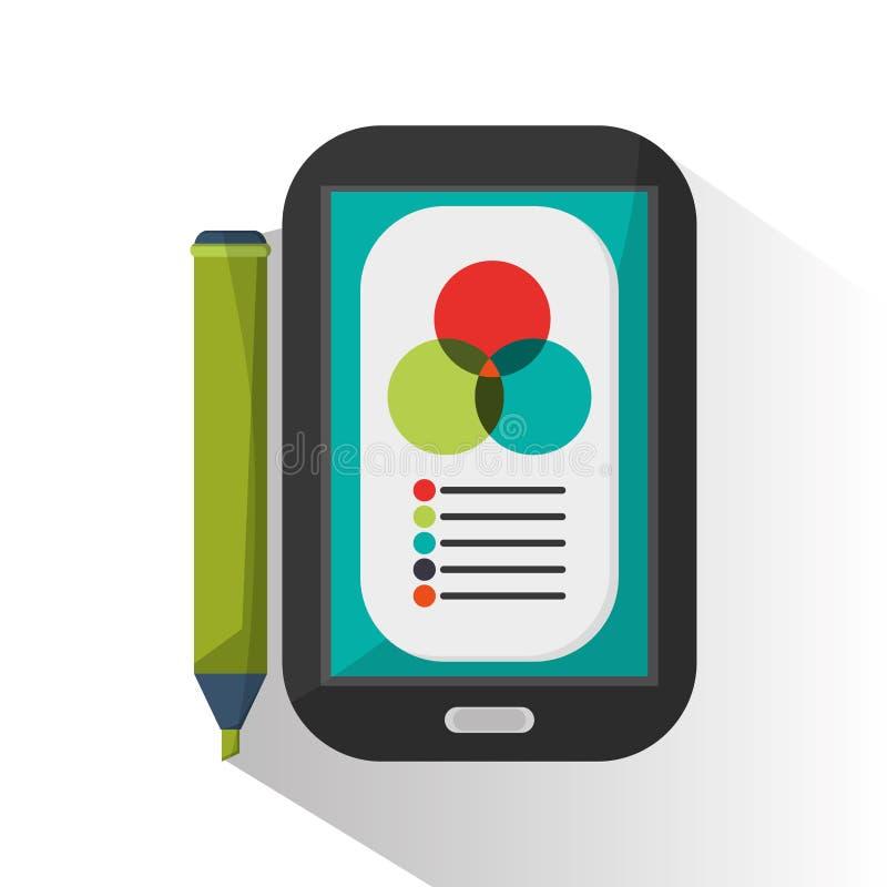 Отметка Smartphone и infographic дизайн иллюстрация вектора