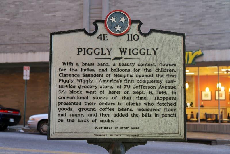 Отметка Wiggly гастронома Piggly историческая стоковая фотография