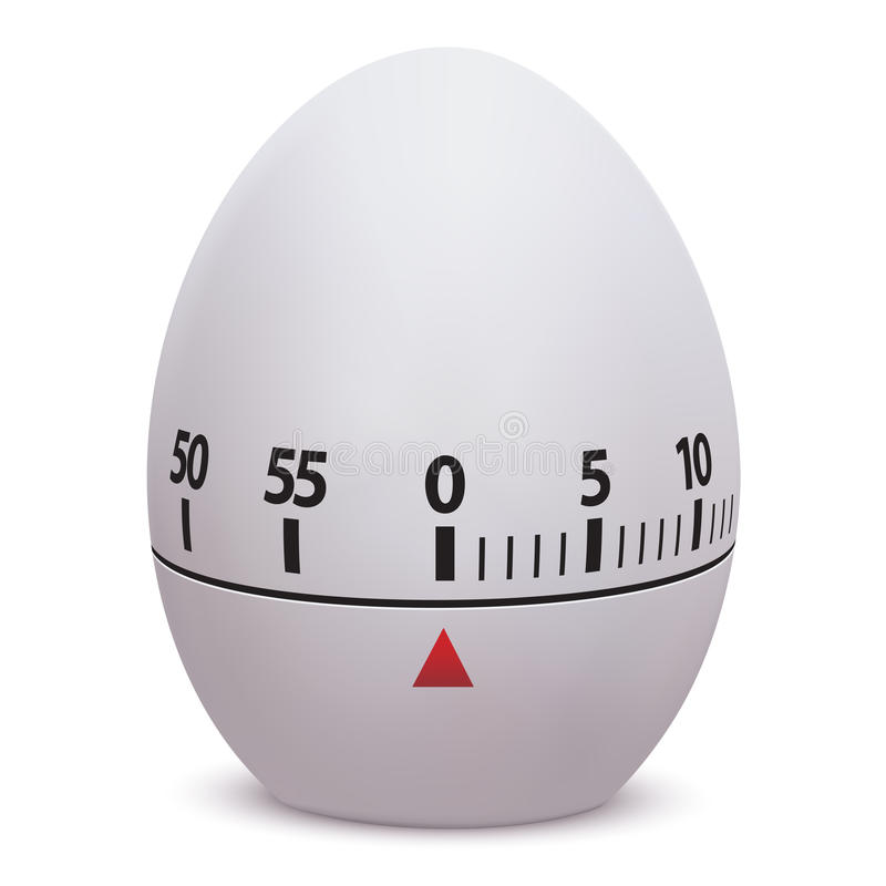 отметчик времени яичка иллюстрация вектора