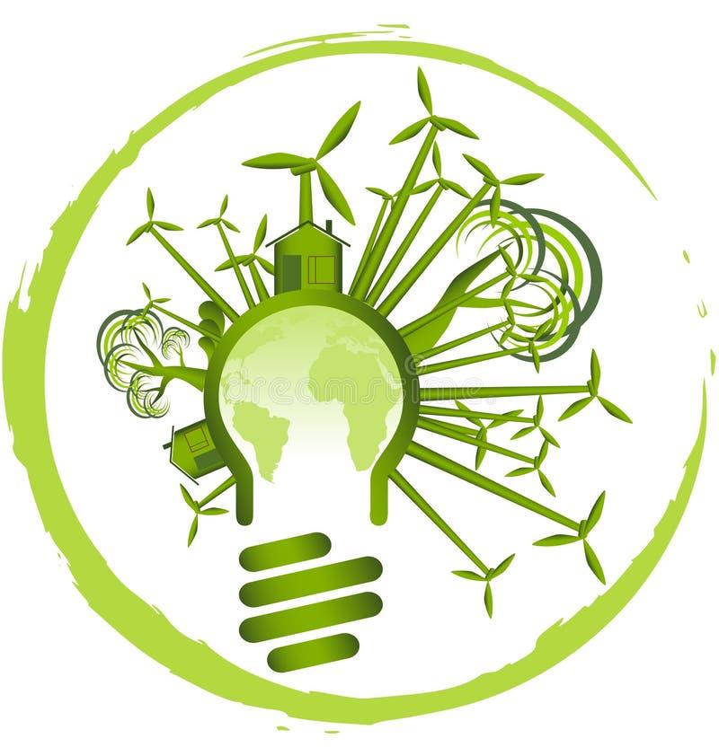 относящая к окружающей среде икона иллюстрация штока