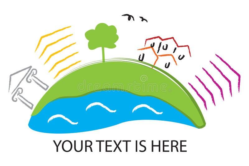относящий к окружающей среде логос бесплатная иллюстрация