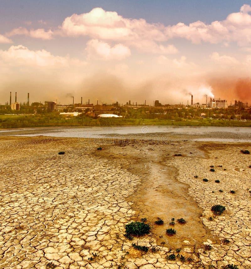 относящое к окружающей среде загрязнение стоковое изображение