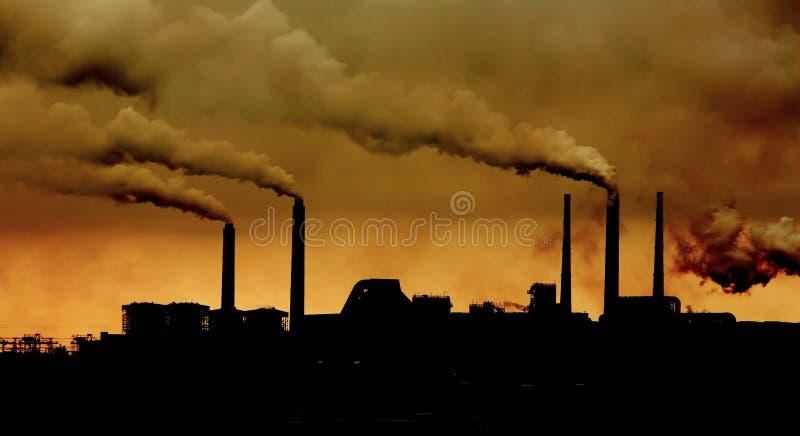 относящое к окружающей среде загрязнение стоковая фотография