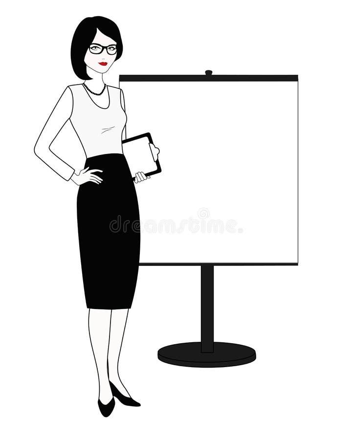 Отношения специалиста публично в бело-черном изменении иллюстрация штока