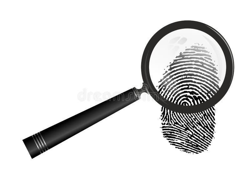 Отпечаток пальцев иллюстрация вектора