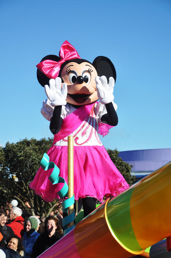 отпразднуйте приденный мечт парад мыши minnie истинный стоковые фото