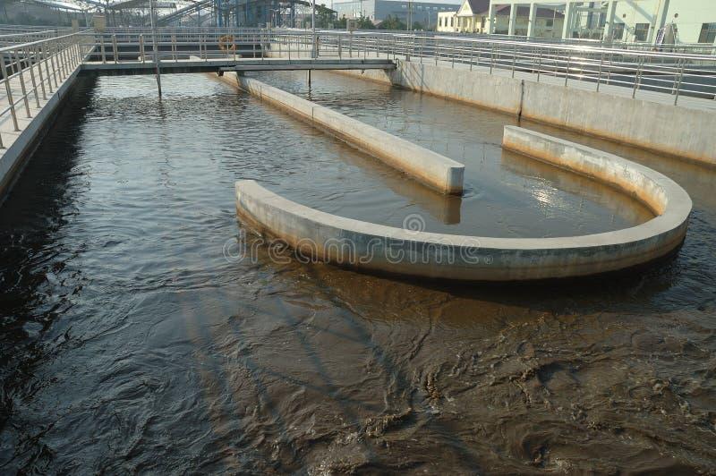 отработанная вода обработки стоковые фото