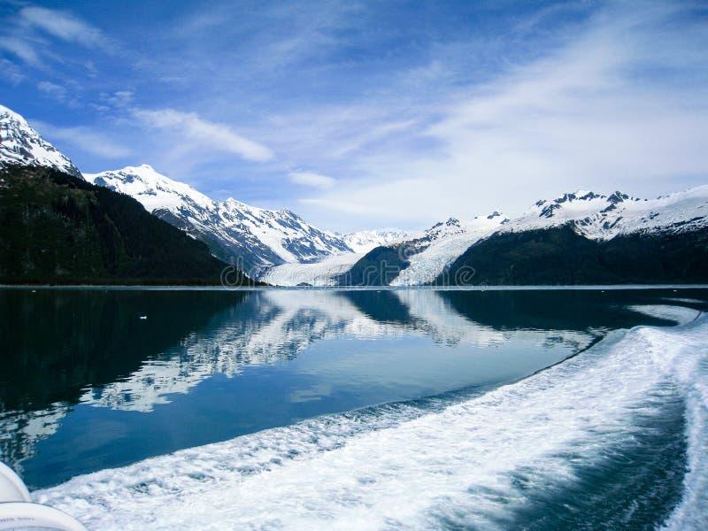 Отражательные ледники Prince William Sound в Аляске стоковые фото