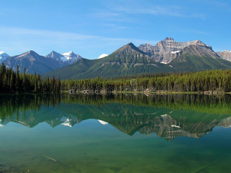 отражать национального парка гор озера banff стоковые изображения rf