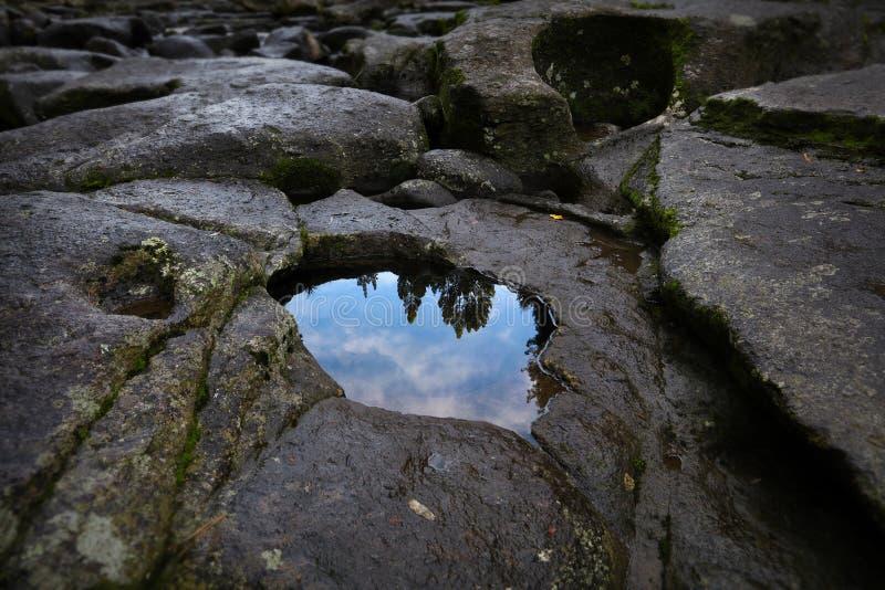 Отражение бассейна утеса стоковое фото