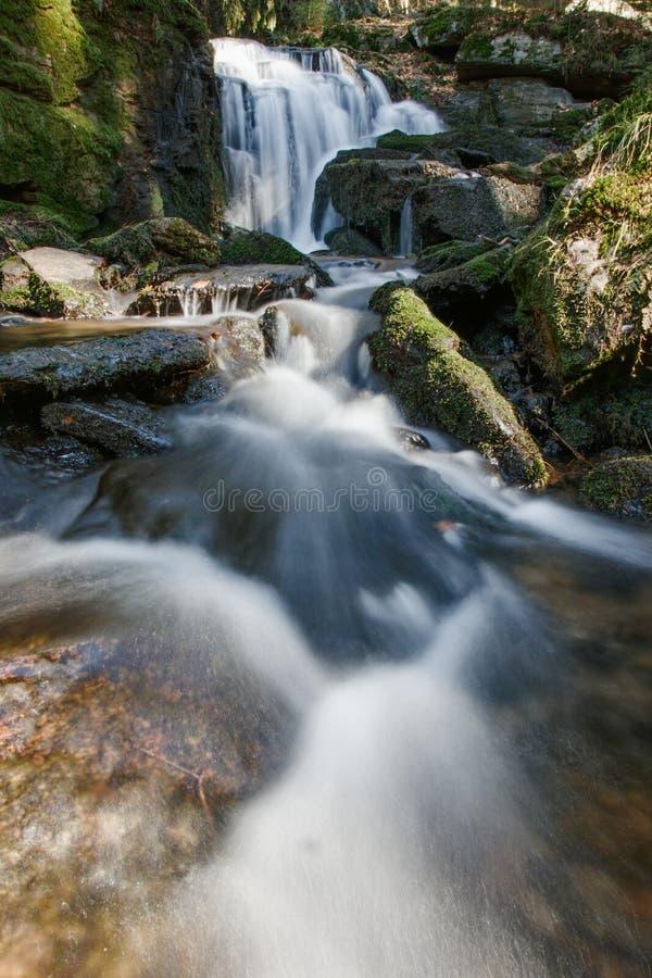 Отражение, вода перемещения природы Германии водопада skogafoss внешняя стоковые изображения rf