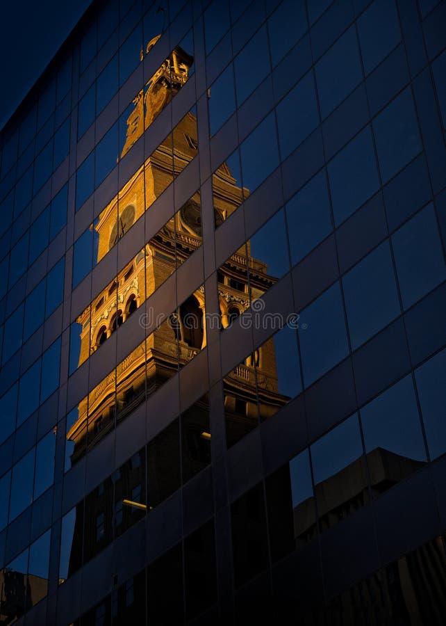 Отражение времени стоковая фотография rf