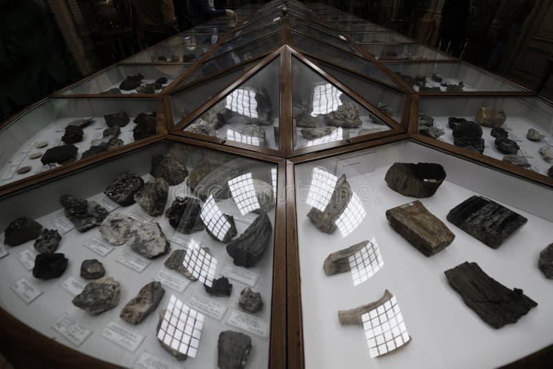 Отражение в витринном шкафе кристаллов стоковые изображения