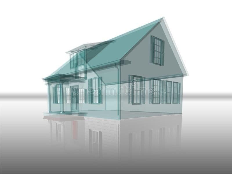 отражение дома прозрачное бесплатная иллюстрация