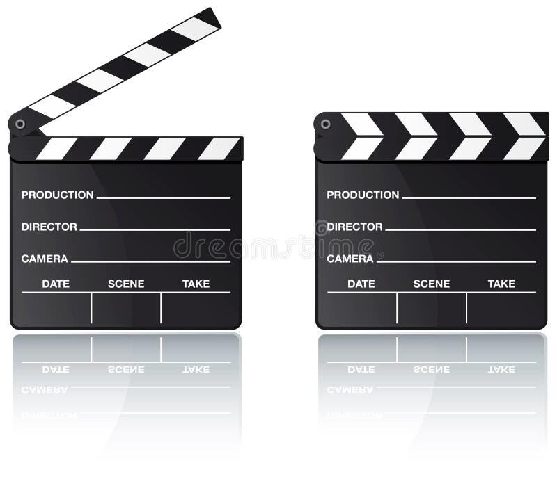 отражение кино колотушки доски бесплатная иллюстрация