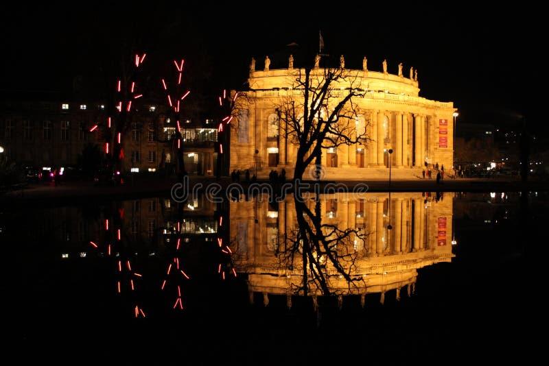 отражение ночи стоковое фото rf