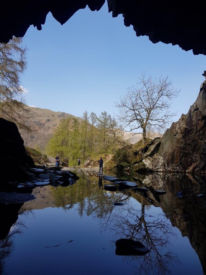 Отражение пещеры стоковое фото