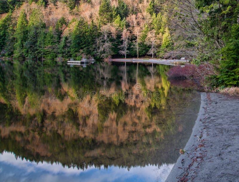 Отражение пляжа озера Алиса стоковая фотография
