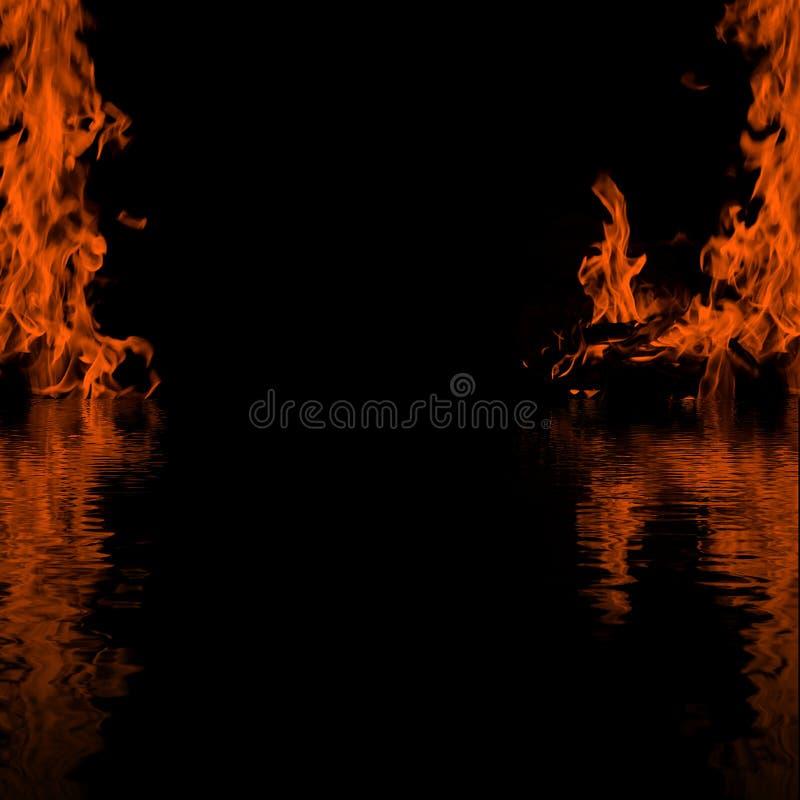 отражение рамки пламени стоковые фотографии rf