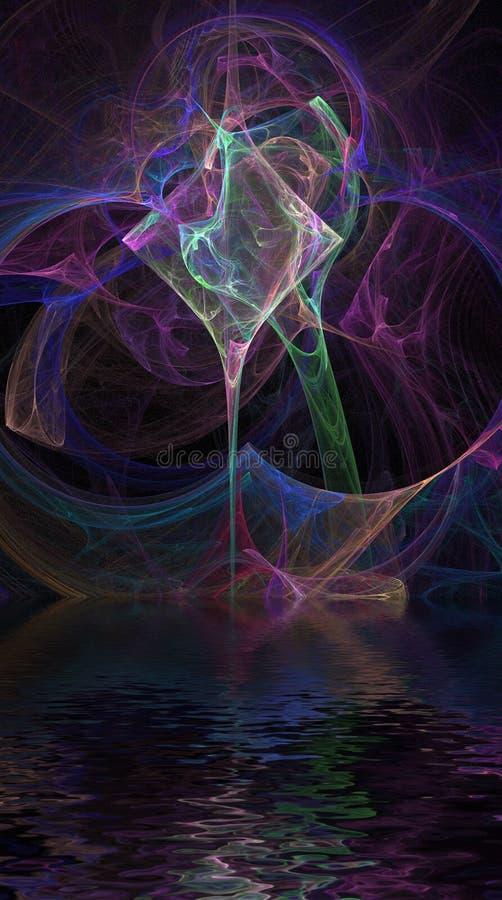 отражение фрактали стоковые изображения rf