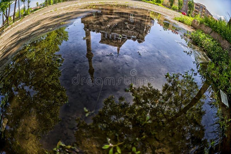 Отражение Panaroma в Kars стоковое изображение