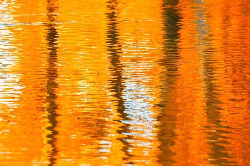 Отражения в воде, абстрактной предпосылке осени стоковое изображение