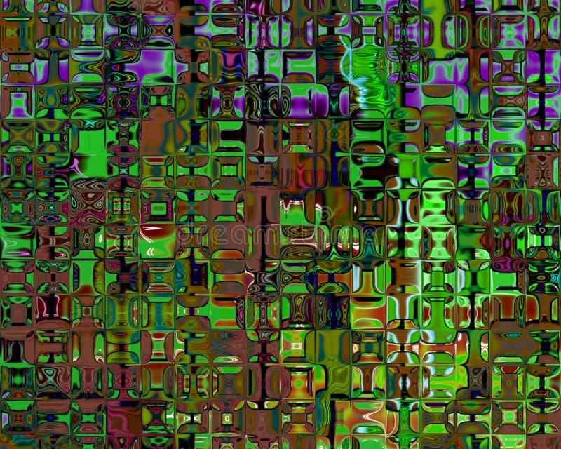 отражения искусства коричневые кристаллические генетические зеленые бесплатная иллюстрация