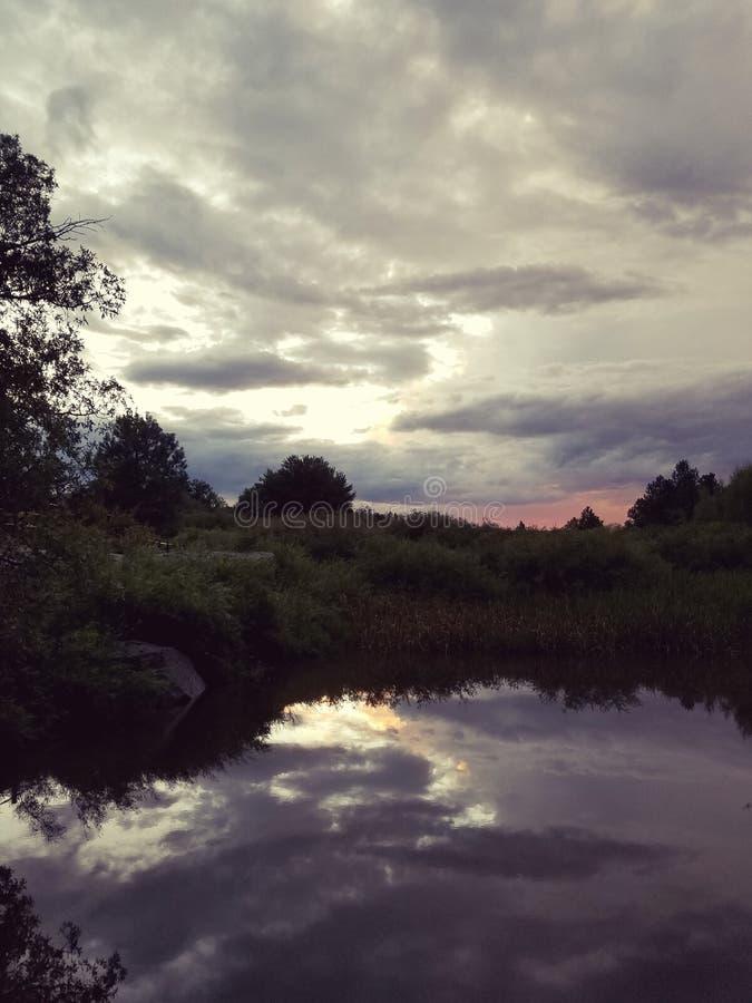 Отражения на воде стоковые фотографии rf