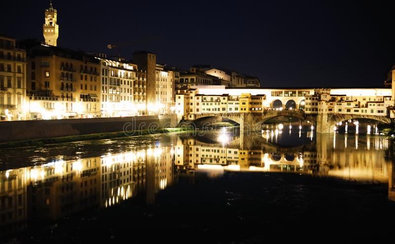 отражения pontevecchioll стоковое фото