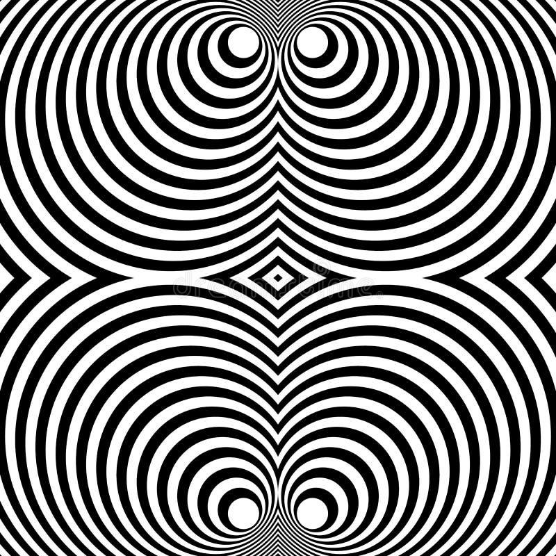 Download Отраженная симметричная картина с концентрическими кругами Абстрактный M Иллюстрация вектора - иллюстрации насчитывающей квадрат, бесцветно: 81812601