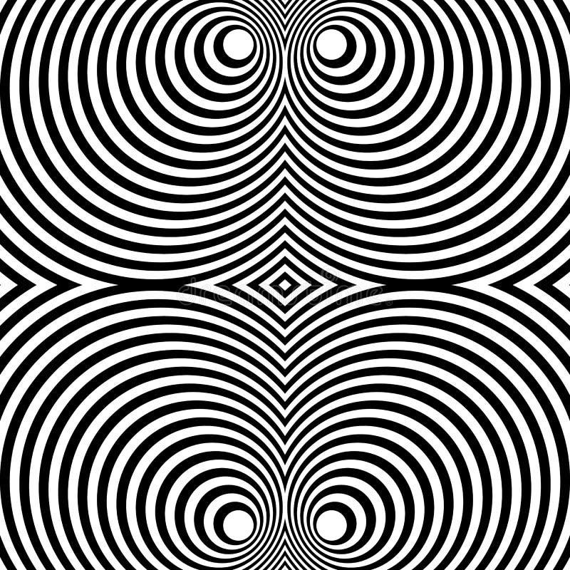 Download Отраженная симметричная картина с концентрическими кругами Абстрактный M Иллюстрация вектора - иллюстрации насчитывающей кругово, линии: 81815280