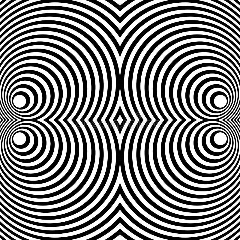 Download Отраженная симметричная картина с концентрическими кругами Абстрактный M Иллюстрация вектора - иллюстрации насчитывающей симметрия, кругово: 81815292