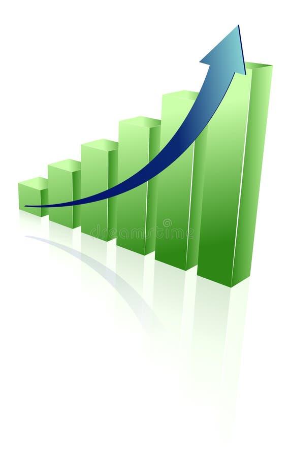 отраженный зеленый цвет диаграммы стоковое фото rf