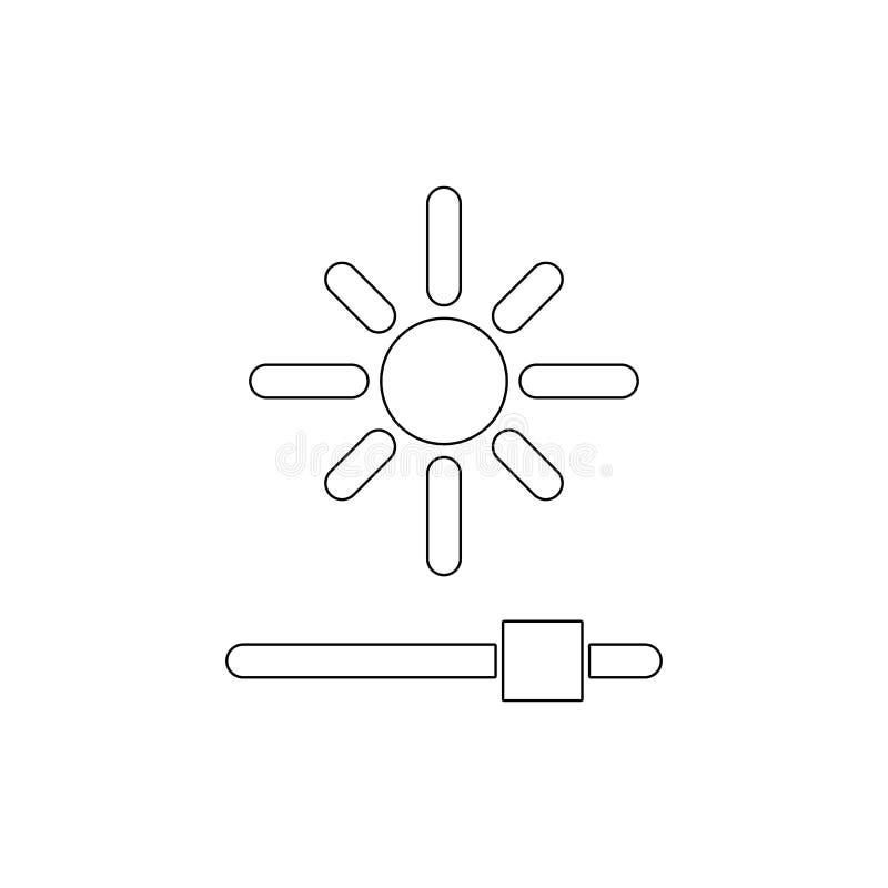 Отрегулируйте значок плана brightnessreduce r бесплатная иллюстрация