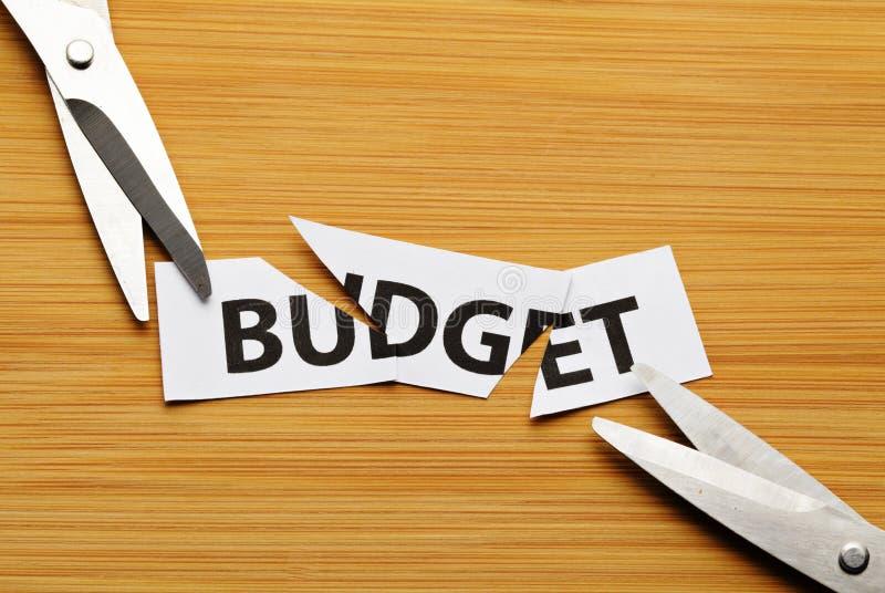 Отрежьте бюджет стоковое фото