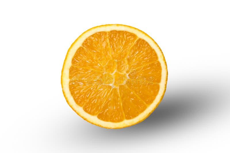 Отрежьте в половинном апельсине стоковое изображение rf