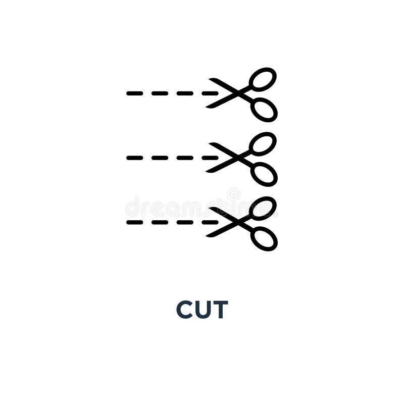 Отрежьте значок Простая иллюстрация элемента Отрежьте дизайн символа концепции иллюстрация штока
