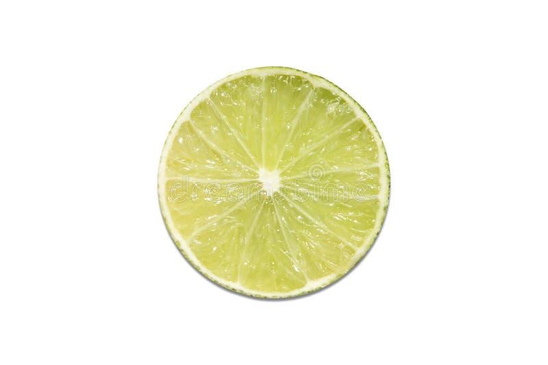Отрежьте лимон изолированный на белой предпосылке стоковое изображение