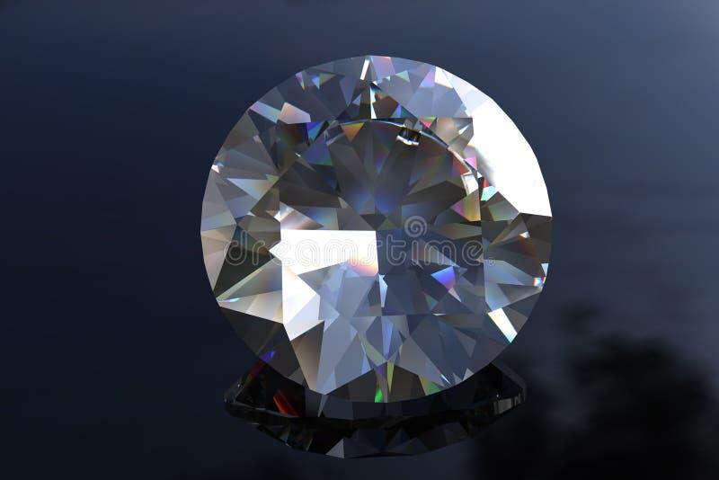 отрежьте круг gemstone евро диаманта большой иллюстрация вектора