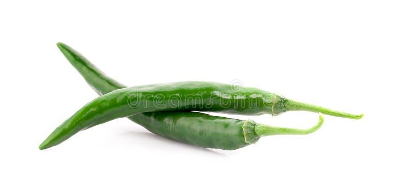 Отрежьте перец chili изолированный на белой предпосылке стоковая фотография rf